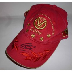Michael Schumacher Ferrari F1 2002 genuine authentic signed autograph cap
