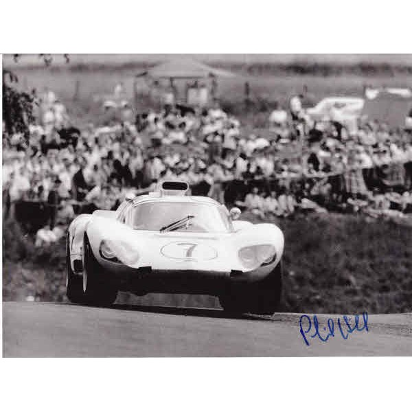 Phil Hill Chaparral Can-Am signed authentic autograph photo