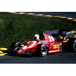 Rene Arnoux F1 Ferrari genuine signed authentic signature photo