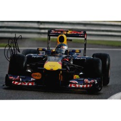 Sebastian Vettel Red Bull Renault F1 authentic genuine autograph signed photo.