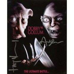 Harry Potter Dobby Gollum Lord Rings genuine signed authentic autograph photo