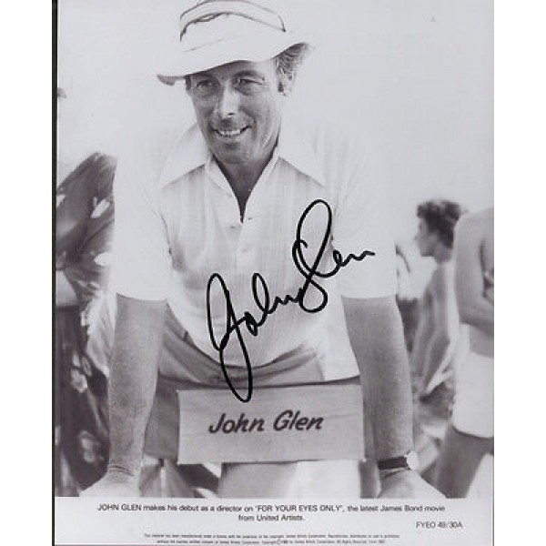 John Glen Director James Bond genuine signed authentic autograph photo