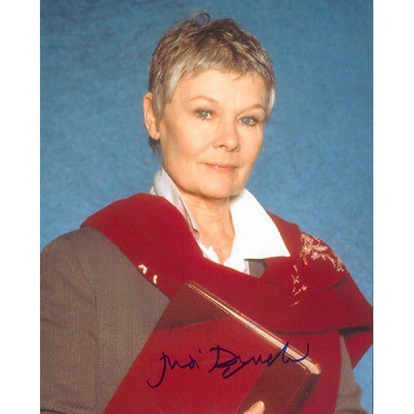 Judi Dench James Bond signed genuine signed authentic autograph photo