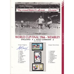 Alf Ramsey England WC1966 signed autograph image stamp display