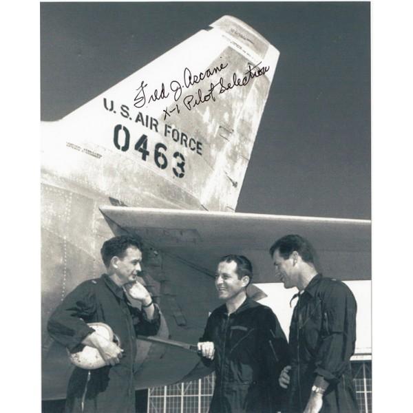Fred Ascani  X1 pilot authentic genuine signed authentic signature photo