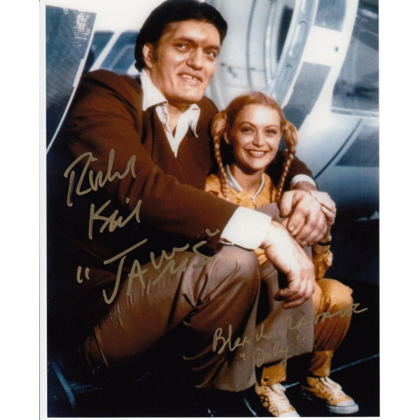 James Bond Blanche Ravallec Richard Kiel  genuine signed autograph photo