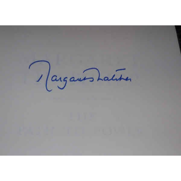 Margaret Thatcher PM authentic genuine signed autograph book 3