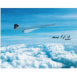 Harry Linfield signed autograph Concorde photo
