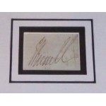 John Earl Russell PM genuine authentic signed autograph display.