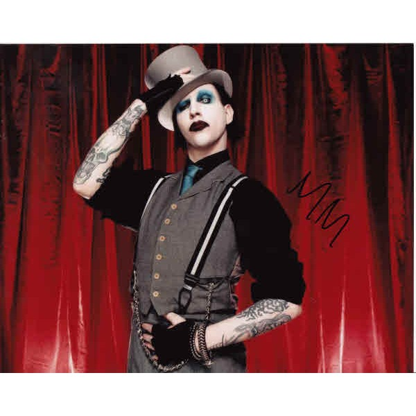 Marylin Manson genuine authentic autograph signed photo 2.