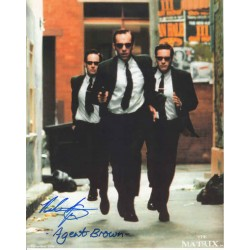Paul Goddard, Agent Brown, Matrix genuine authentic signed autograph photo.