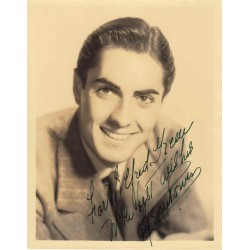 Tyrone Power genuine authentic autograph signed photo.