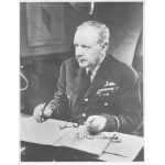 WW2 Arthur T Harris MRAF 'Bomber' signed authentic autograph image