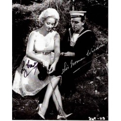 Norman Wisdom Liz Fraser genuine signed authentic signature photo