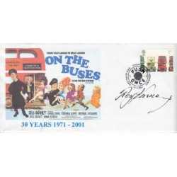 Reg Varney On the Buses genuine signed authentic autograph cover