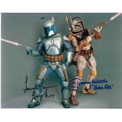 Star Wars Jeremy Bulloch Temuera Morrison signed authentic autograph photo