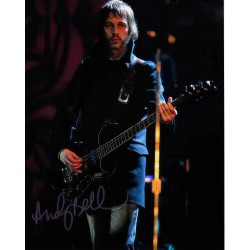 Andy Bell Oasis music genuine signed authentic signature photo