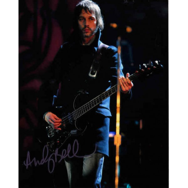 Andey Bell Oasis music genuine signed authentic signature photo
