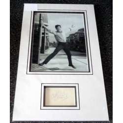 SOLD Cliff Richard genuine authentic signed autograph photo display