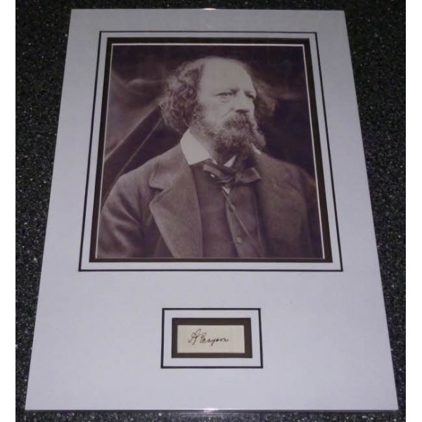 Alfred Lord Tennyson genuine authentic signed autograph photo display