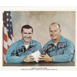 Dick Gordon Pete Conrad Gemini authentic signed photo