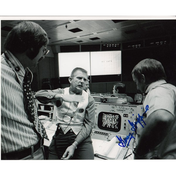 Gerry Griffin genuine signed authentic signature photo Apollo space NASA