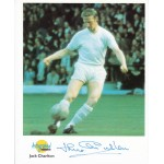 Jackie Charlton Man United England genuine signed authentic signature photo