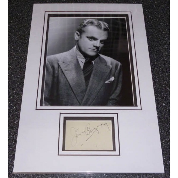 James Cagney genuine signed autograph photo display