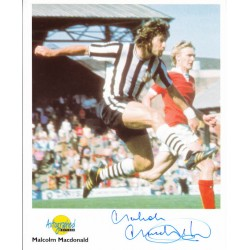 Malcolm Macdonald Newcastle England authentic signed genuine autograph image