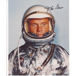 Mercury John Glenn signed autograph photo space.