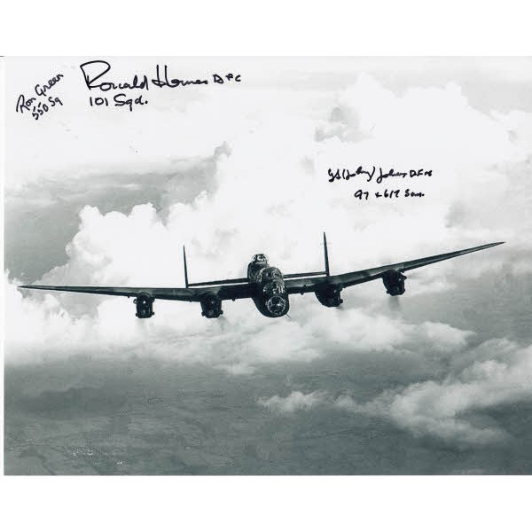 Ron Green George Johnson Ronald Homes Lancaster signed authentic autograph photo