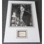 Charlie Chaplin genuine authentic signed autograph signature display