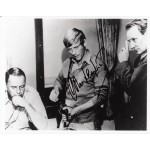 John Leyton with Frank Sinatra signed authentic autograph photo
