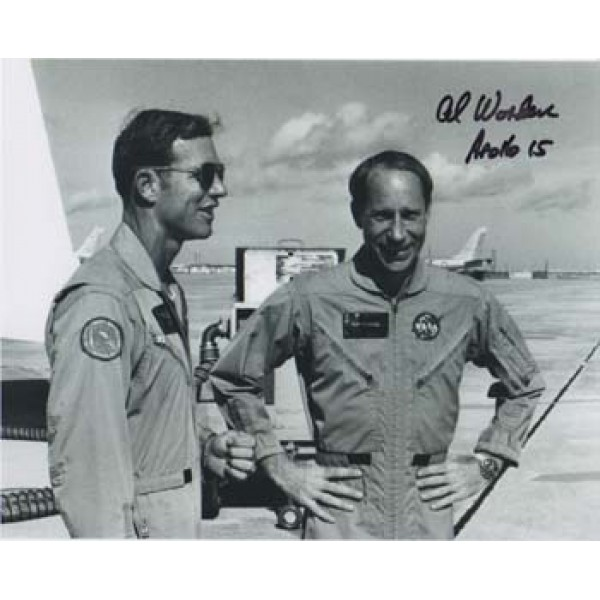 Al Worden with Dave Scott signed photo.
