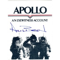 Apollo 12 Alan Bean signed autograph bookplate