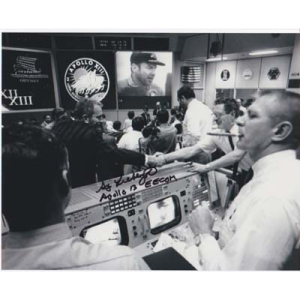Apollo 13 Eecom Sy Liebergot signed photo.