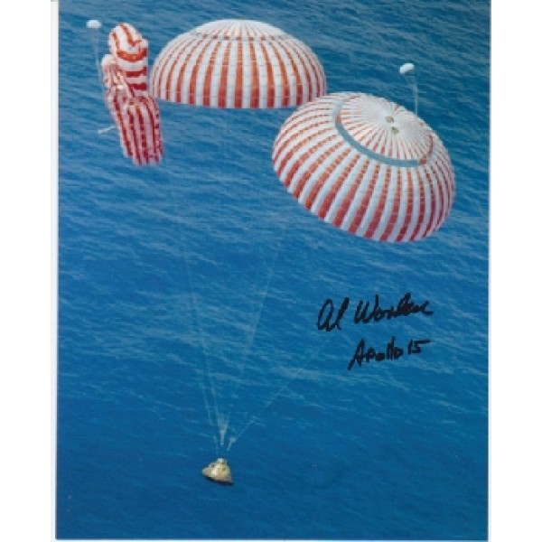 Apollo 15 authentic signed photo by Al Worden.