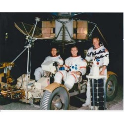 Apollo 15 crew photo signed by Al Worden