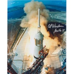 Apollo 15 leaves the pad signed by Worden