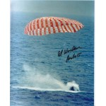 Apollo 15 splashdown signed by Worden authentic genuine signature.