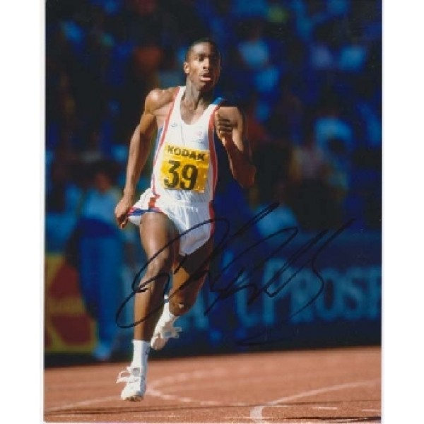 Athletics Derek Redmond signed original postcard