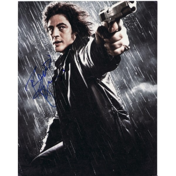 Benicio Del Toro genuine signed authentic signature photo