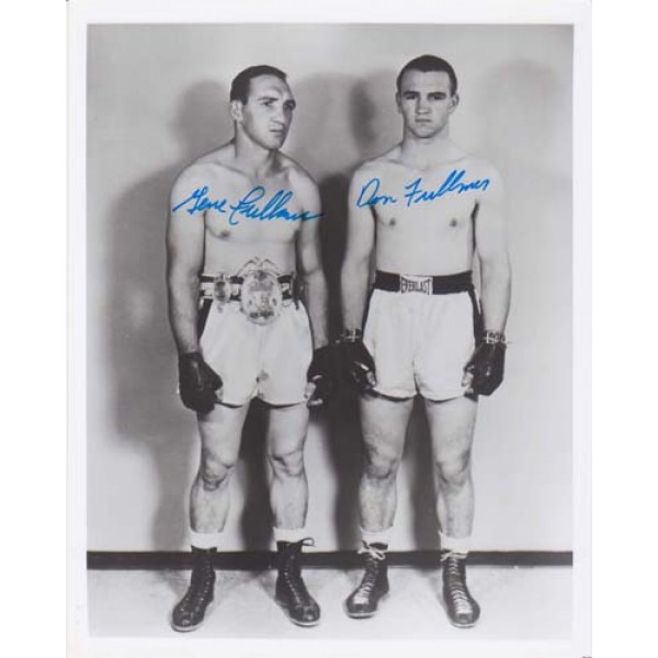 Boxing Gene and Don Fullmer signed original genuine autograph authentic photo