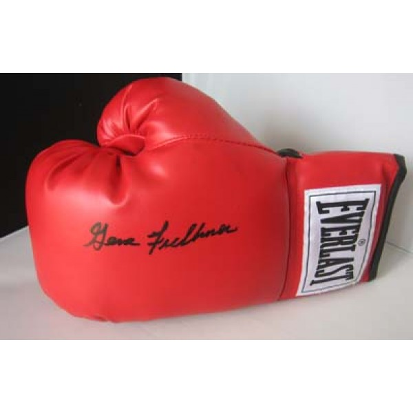 Boxing Gene Fullmer signed original genuine autograph authentic glove