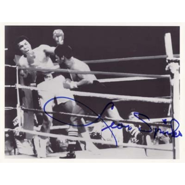 Boxing Leon Spnks, Ali signed original genuine autograph authentic photo