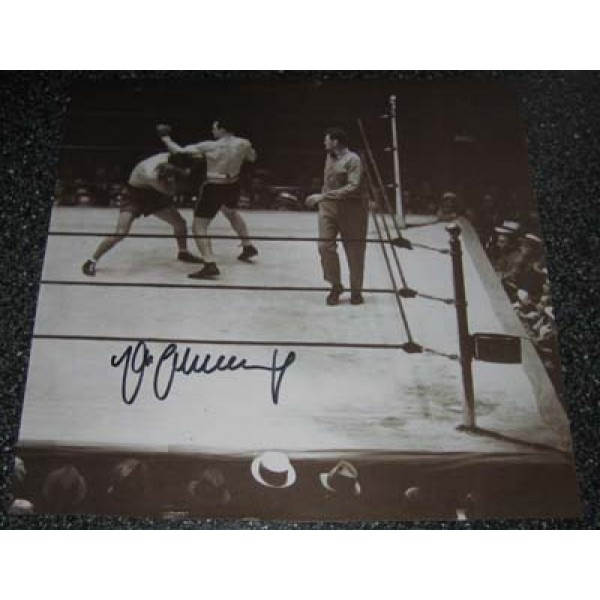 Boxing Max Schmelling signed original genuine autograph authentic