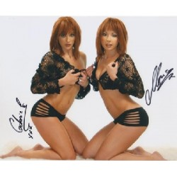 Cheeky Girls genuine signed authentic autograph colour photo 2