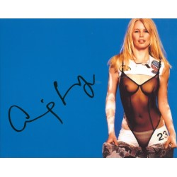 Claudia Schiffer genuine signed authentic autograph photo