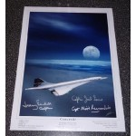 Concorde large multi captain genuine signed authentic signature photo