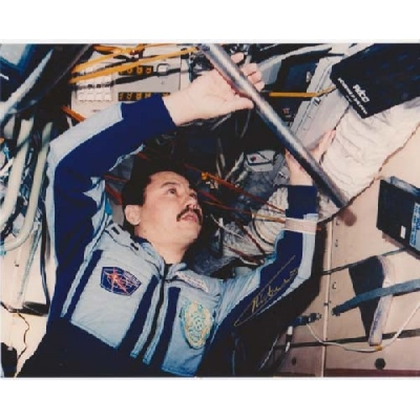 Cosmonaut Musabaev Space genuine signed autograph photo